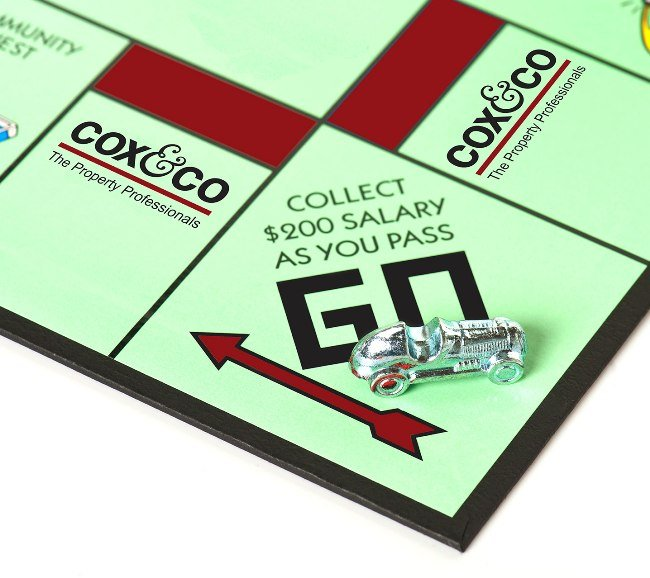 Monopoly car on go